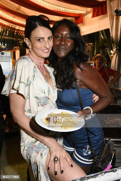 Models Sylvie Ortega Munos and Diariata Niang attend La Fete des Tuileries on June 23 2017 in Paris France