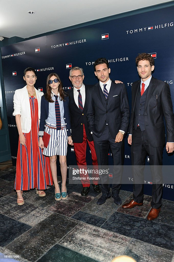 Models Tao Okamoto, Jacquelyn Jablonski, Bernard Fouquet, Arthur Kulkocv, and Max Rogers attend Tommy Hilfiger New West Coast Flagship Opening After Party at a Private Club on February 13, 2013 in West Hollywood, California.
