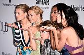 Models Toni Garrn Petra Nemcova Caroline Scheufele of Chopard models Jourdan Dunn and Kendall Jenner attend amfAR's 22nd Cinema Against AIDS Gala...