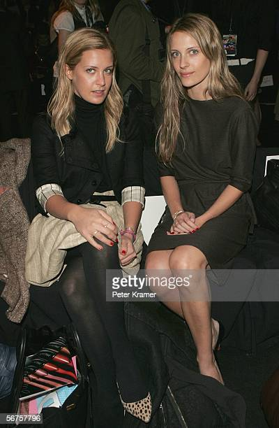 Models Victoria Traina and her sister Vanessa Traina attend the Oscar Del La Renta Fall 2006 fashion show during Olympus Fashion Week at Bryant Park...