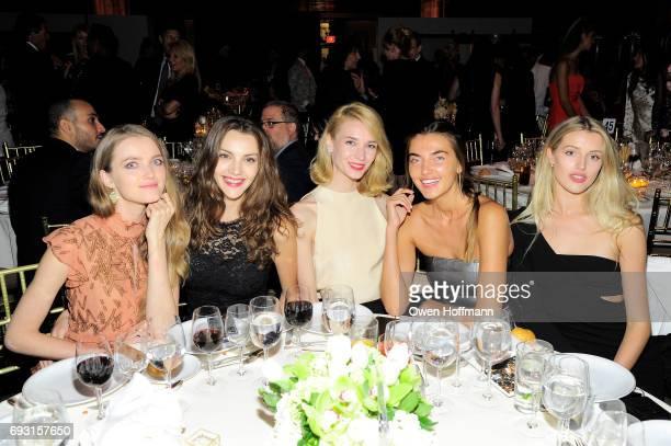 Models Vlada Roslyakova Olesya Senchenko Inna Pilipenko Alina Baikova and Sophie Longford attend the Gordon Parks Foundation Awards Dinner Auction at...