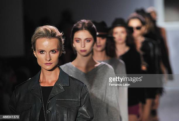 Models walk down the runway during the Serena Williams Signature Statement by HSN fashion show during the Spring 2016 Style 360 on September 15 2015...