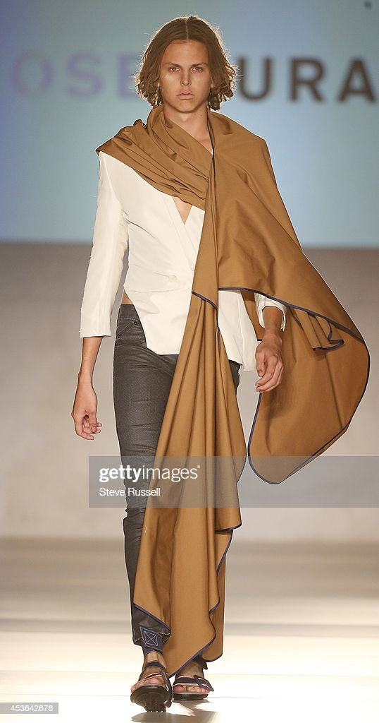 TORONTO, ON- AUGUST 13 - Models walk for the Jose Duran show in which the models have a desert feel during TOM*, Toronto Men's Fashion Week at Royal York Hotel in Toronto. August 13, 2014. Steve Russell/Toronto Star