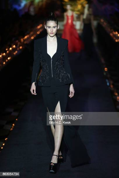 Models walk on the runway during La Perla Spring/Summer 2018 Collection at The Sands Macao Fashion Week on October 19 2017 in Macau Macau