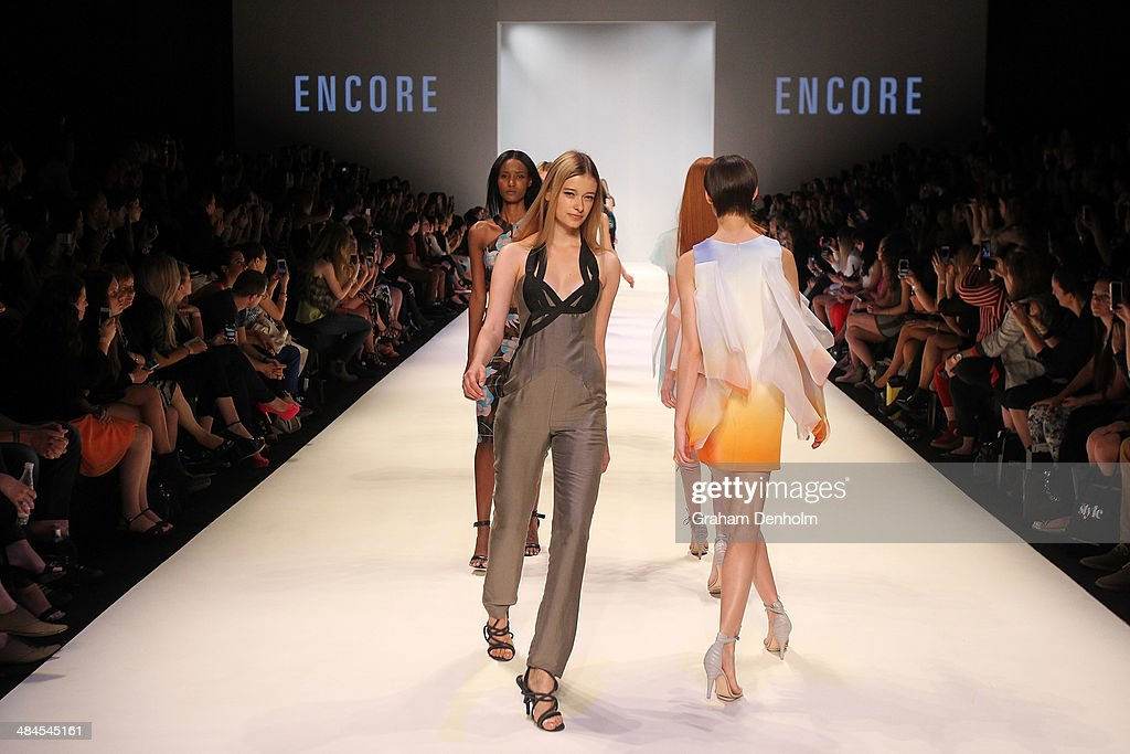 Models walk the finale at the Best of #MBFWA show at Mercedes-Benz Fashion Week Australia - Weekend Edition at Carriageworks on April 13, 2014 in Sydney, Australia.