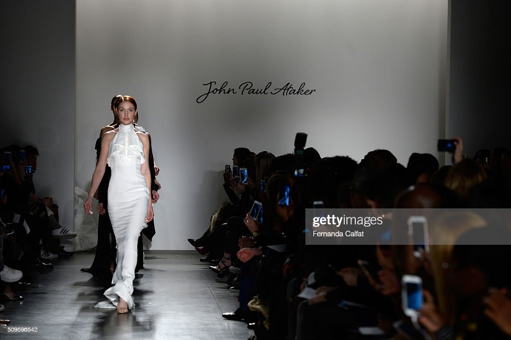 Models walk the John Paul Ataker - Runway at Pier 59 on February 11, 2016 in New York City.