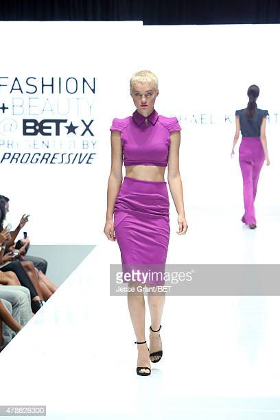 Models walk the Macy's red carpet inspired fashion show during the 2015 BET Experience on June 27 2015 in Los Angeles California