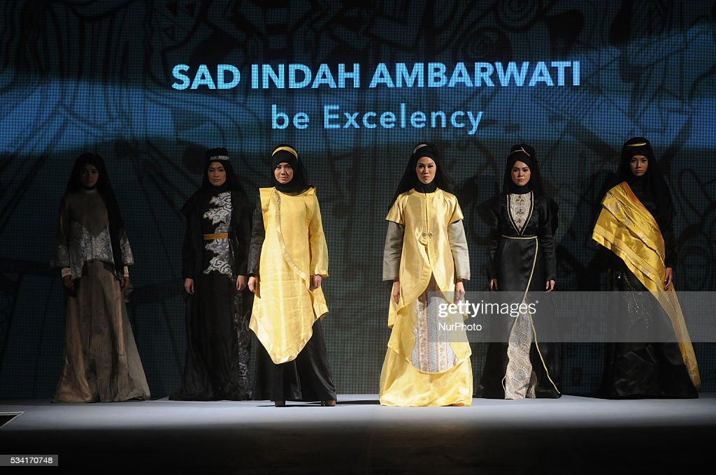 Models walk the runway as they present creations by Sad Indah during Muslim Fashion Festival 2016 in Jakarta, Indonesia, on May 25. This event is a part of preparations to welcoming the Holy month of Ramadan. Indonesia is the biggest moslem country in the world.