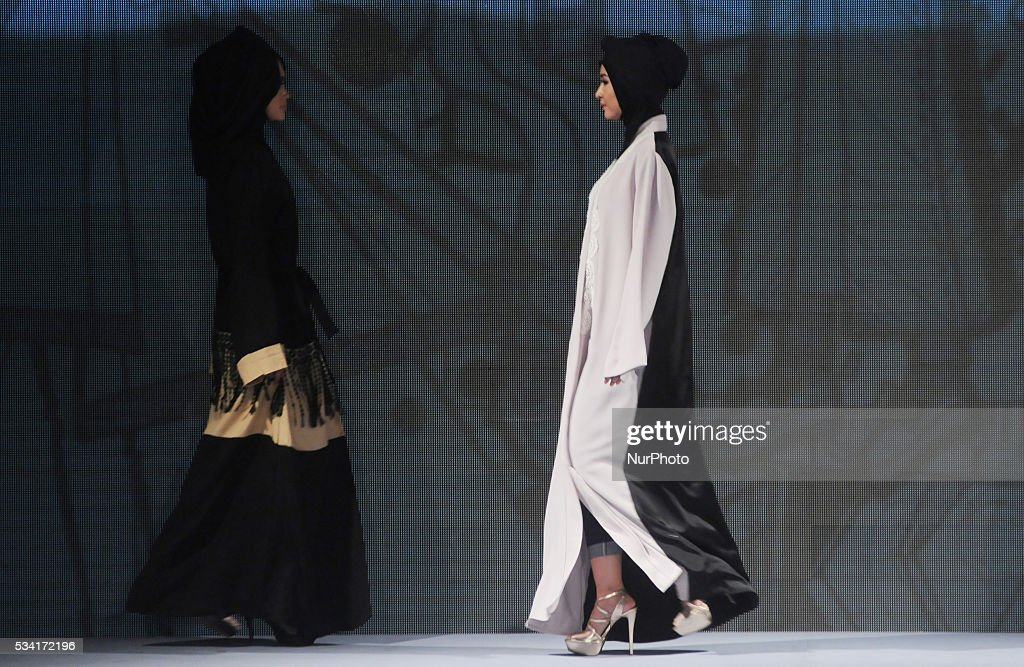 Models walk the runway as they present creations by Yuan during Muslim Fashion Festival 2016 in Jakarta, Indonesia, on May 25, 2016. This event is a part of preparations to welcoming the Holy month of Ramadan. Indonesia is the biggest moslem country in the world.