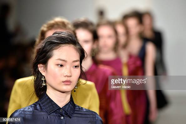 Models walk the runway at Brock Collection fashion show during Fall 2016 MADE Fashion Week at Milk Studios on February 11 2016 in New York City