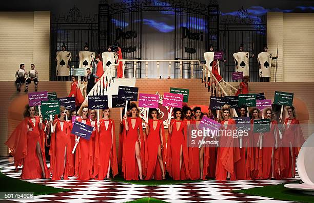 Models walk the runway at Dosso Dossi fashion show on December 17 2015 in Antalya Turkey