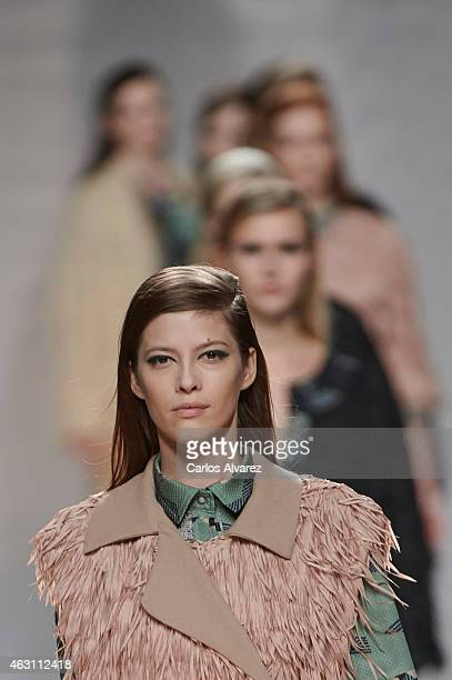 Models walk the runway at the Ailanto show during Madrid Fashion Week Fall/Winter 2015/16 at Ifema on February 10 2015 in Madrid Spain