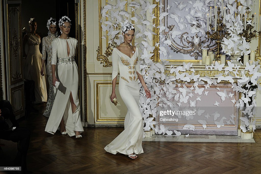 Models walk the runway at the Alexis Mabille Spring Summer 2014 fashion show during Paris Haute Couture Fashion Week on January 20, 2014 in Paris, France.