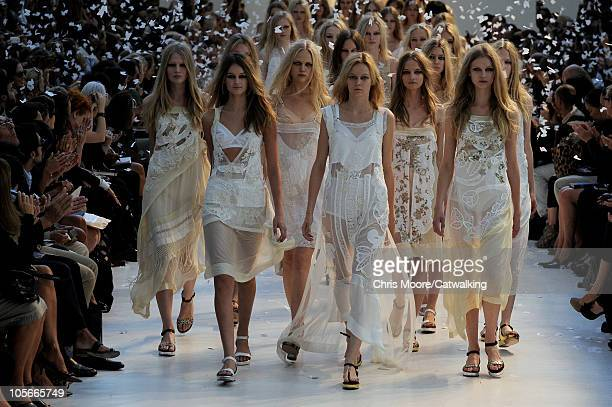 Models walk the runway at the Antonio Marras Spring Summer 2011 fashion show during Milan Fashion Week at on September 24 2010 in Milan City