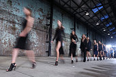 Models walk the runway at the Bec and Bridge show during MercedesBenz Fashion Week Australia 2014 at Blacksmith's Workshop Carriageworks on April 7...