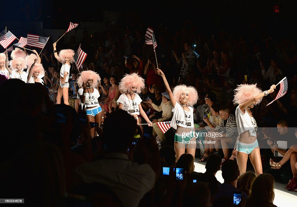 Models walk the runway at the Betsey Johnson fashion show during Mercedes-Benz Fashion Week Spring 2014 at Lincoln Center for the Performing Arts on September 11, 2013 in New York City.