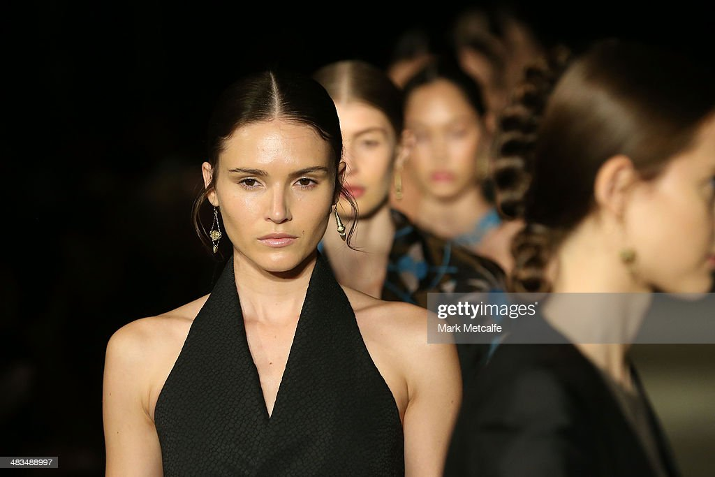 Models walk the runway at the Bianca Spender show during Mercedes-Benz Fashion Week Australia 2014 at Biennale Bay, 22-24 Carriageworks on April 9, 2014 in Sydney, Australia.