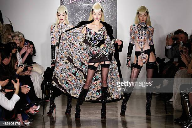 Models walk the runway at The Blonds Fall 2014 Collection during MADE Fashion Week Fall 2014 at Milk Studios on February 12 2014 in New York City