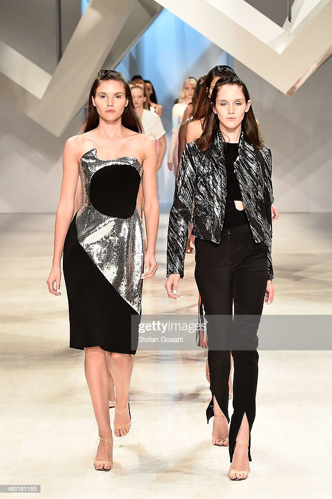 Models walk the runway at the By Johnny show during Mercedes-Benz Fashion Week Australia 2014 at Carriageworks on April 7, 2014 in Sydney, Australia.