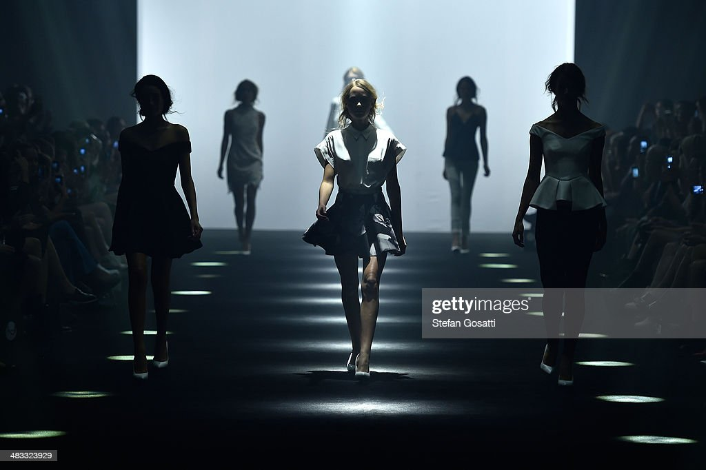 Models walk the runway at the Cameo show during Mercedes-Benz Fashion Week Australia 2014 at Carriageworks on April 8, 2014 in Sydney, Australia.