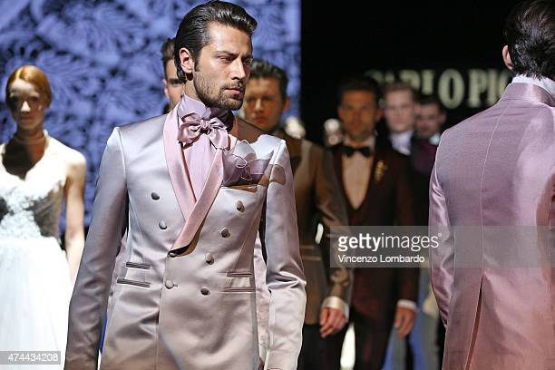 Models walk the runway at the Carlo Pignatelli Fashion Show 2016 on May 22 2015 in Milan Italy