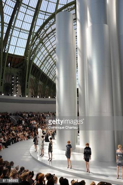 Models walk the runway at the Chanel '09 Spring Summer Haute Couture fashion show at the Grand Palais on July 1 2008 in Paris France