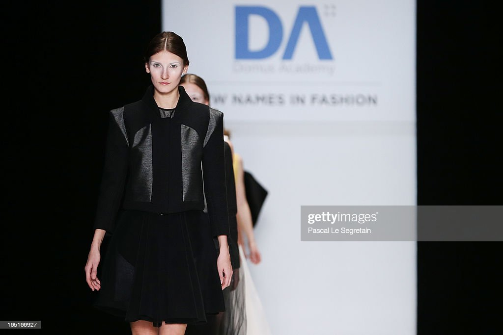 Models walk the runway at the Cora Maria Bellotto (Italia) for Domus Academy Collective Show during Mercedes-Benz Fashion Week Russia Fall/Winter 2013/2014 at Manege on April 1, 2013 in Moscow, Russia.