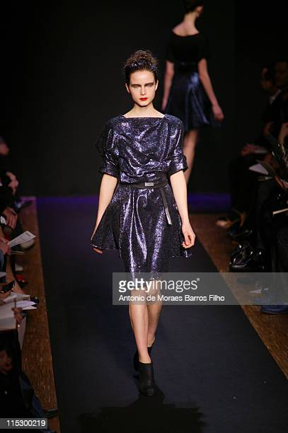 Models walk the runway at the Costume National ReadytoWear A/W 2009 fashion show during Paris Fashion Week at Le Carrousel du Louvre on March 8 2009...