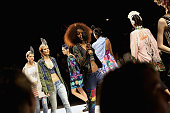 Models walk the runway at the Desigual fashion show during Spring 2016 New York Fashion Week The Shows at The Arc Skylight at Moynihan Station on...