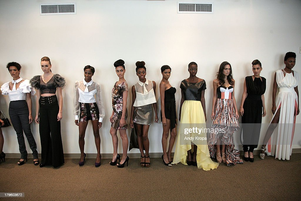Models walk the runway at the Ebony White presentation during Mercedes-Benz Fashion Week on September 5, 2013 in New York City.