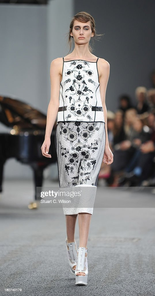 Models walk the runway at the Erdem show during London Fashion Week SS14 at on September 16, 2013 in London, England.