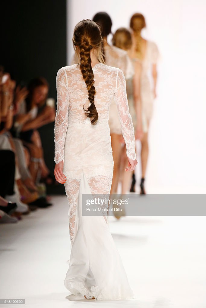 Models walk the runway at the Ewa Herzog show during the Mercedes-Benz Fashion Week Berlin Spring/Summer 2017 at Erika Hess Eisstadion on June 28, 2016 in Berlin, Germany.