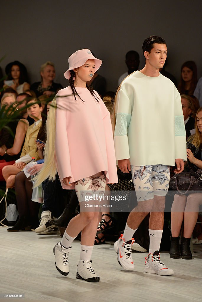 Models walk the runway at the Franziska Michael show during the Mercedes-Benz Fashion Week Spring/Summer 2015 at Erika Hess Eisstadion on July 9, 2014 in Berlin, Germany.