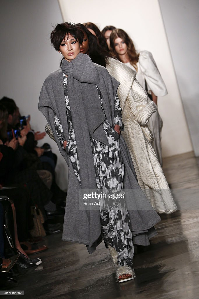 Models walk the runway at the Houghton fashion show during MADE Fashion Week fall 2014 at Milk Studios on February 6, 2014 in New York City.