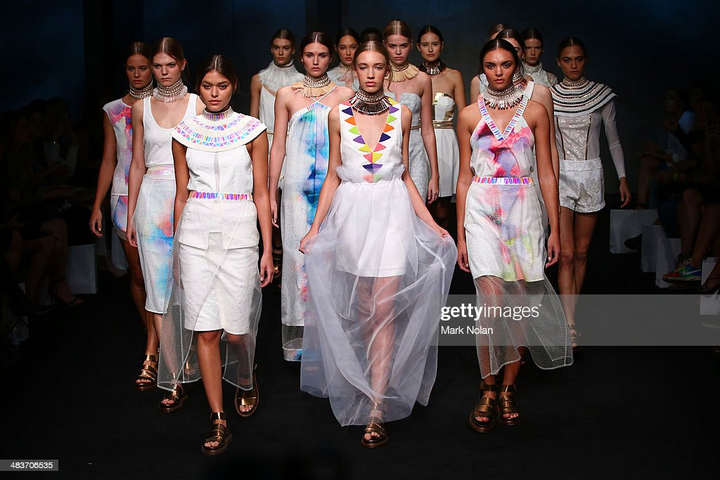 Models walk the runway at the Ixiah show during Mercedes-Benz Fashion Week Australia 2014 at Carriageworks on April 10, 2014 in Sydney, Australia.