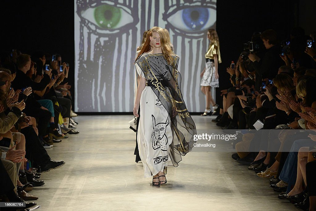 Models walk the runway at the Jean-Charles De Castelbajac Spring Summer 2014 fashion show during Paris Fashion Week on October 1, 2013 in Paris, France.