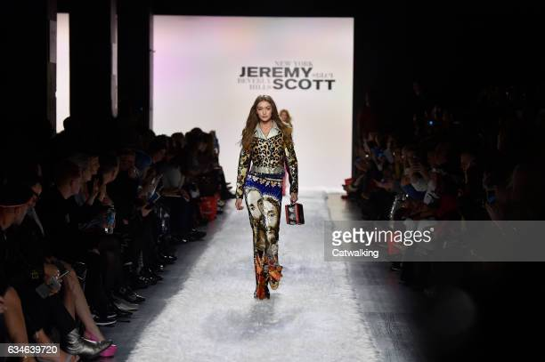 Models walk the runway at the Jeremy Scott Autumn Winter 2017 fashion show during New York Fashion Week on February 10 2017 in New York United States