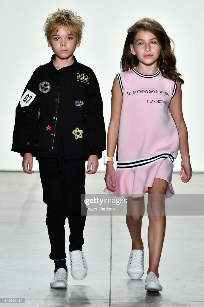 Models walk the runway at the Jia Liu fashion show during New York Fashion Week: The Shows at Gallery 2, Skylight Clarkson Sq on September 13, 2017 in New York City.