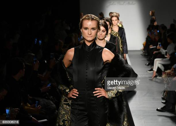 Models walk the runway at the John Paul Ataker Fall Winter 2017 Runway Show at Pier 59 on February 14 2017 in New York City