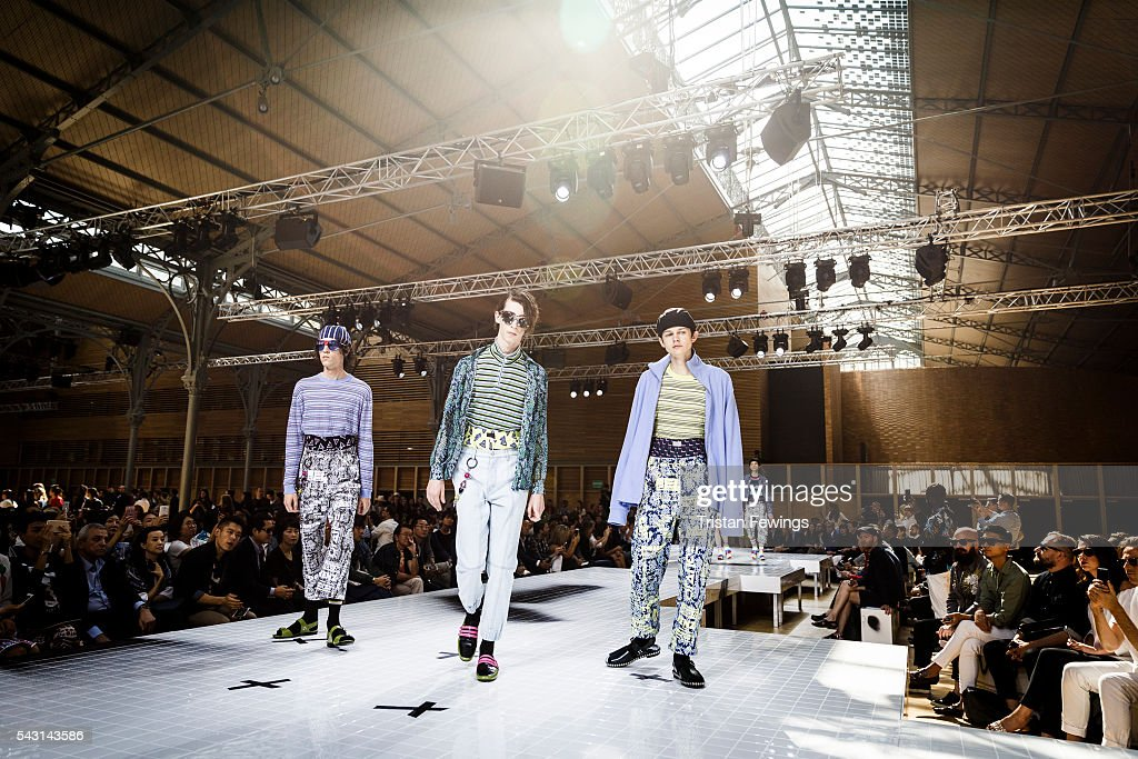 Models walk the runway at the Kenzo Menswear Spring/Summer 2017 show as part of Paris Fashion Week on June 26, 2016 in Paris, France.