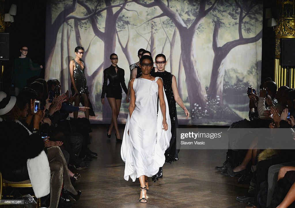 Models walk the runway at the Kithe Brewster fashion show during Mercedes-Benz Fashion Week Fall 2014 on February 13, 2014 in New York City.