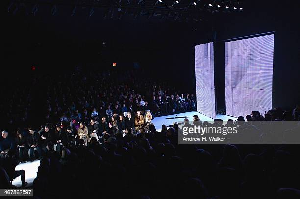Models walk the runway at the LACOSTE fashion show during MercedesBenz Fashion Week Fall 2014 at Lincoln Center for the Performing Arts on February 8...