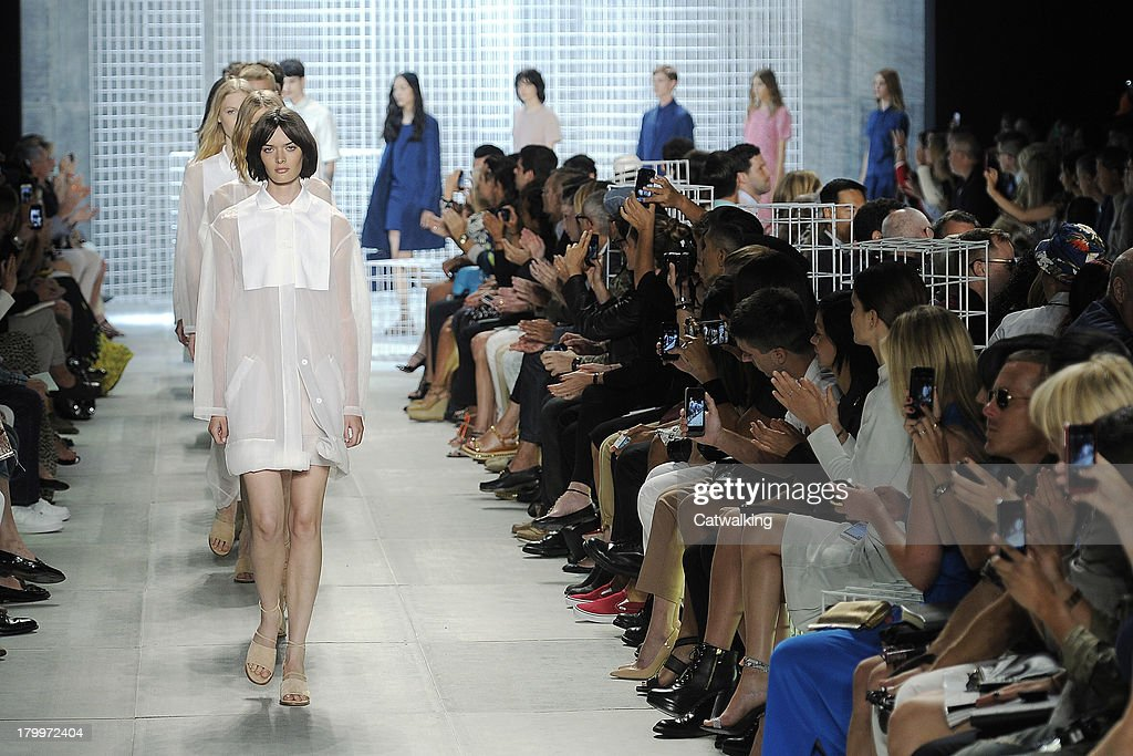 Models walk the runway at the Lacoste Spring Summer 2014 fashion show during New York Fashion Week on September 7, 2013 in New York, United States.