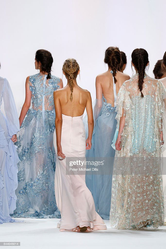 Models walk the runway at the Lana Mueller show during the Mercedes-Benz Fashion Week Berlin Spring/Summer 2017 at Erika Hess Eisstadion on July 1, 2016 in Berlin, Germany.