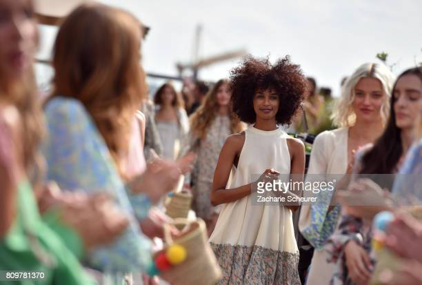 Models walk the runway at the Lana Mueller show during the MercedesBenz Fashion Week Berlin Spring/Summer 2018 at Weekend on July 6 2017 in Berlin...