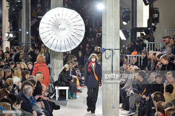 Models walk the runway at the Lanvin Autumn Winter 2017 fashion show during Paris Menswear Fashion Week on January 22 2017 in Paris France