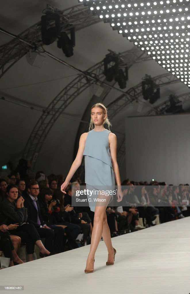 Models walk the runway at the Lucas Nascimento show during London Fashion Week SS14 at TopShop Show Space on September 17, 2013 in London, England.