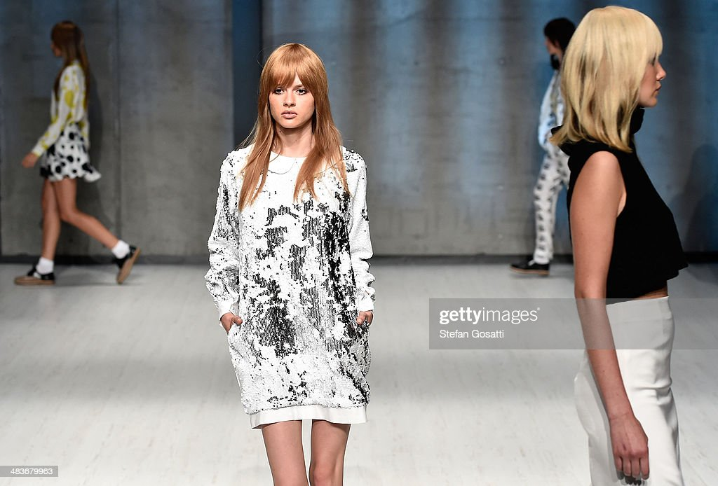 Models walk the runway at the MacGraw show during Mercedes-Benz Fashion Week Australia 2014 at Carriageworks on April 10, 2014 in Sydney, Australia.