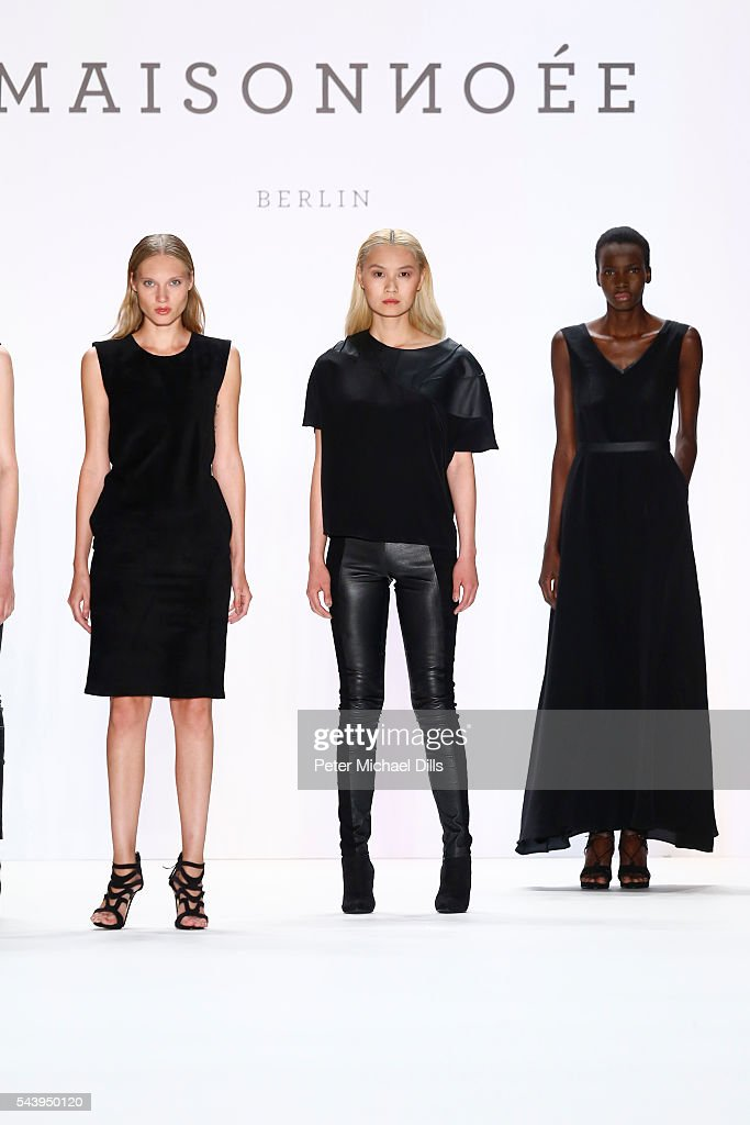 Models walk the runway at the Maisonnoee show during the Mercedes-Benz Fashion Week Berlin Spring/Summer 2017 at Erika Hess Eisstadion on June 30, 2016 in Berlin, Germany.