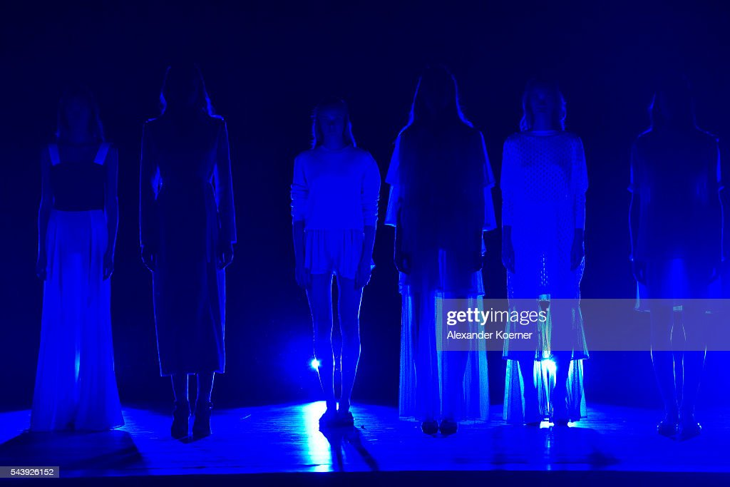 Models walk the runway at the Marcel Ostertag show during the Mercedes-Benz Fashion Week Berlin Spring/Summer 2017 at Admiralspalast on June 30, 2016 in Berlin, Germany.